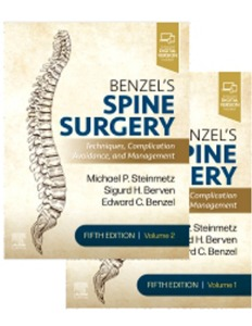 [2021년 8월 출간예정] Benzel's Spine Surgery, 2-Volume Set 5ED